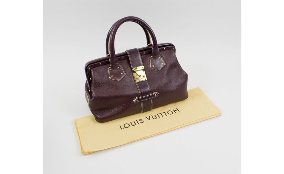 Lot 481 LOUIS VUITTON L'INGENIEUX BAG IN PRUNE SUHALI LEATHER Estimate: £500-800