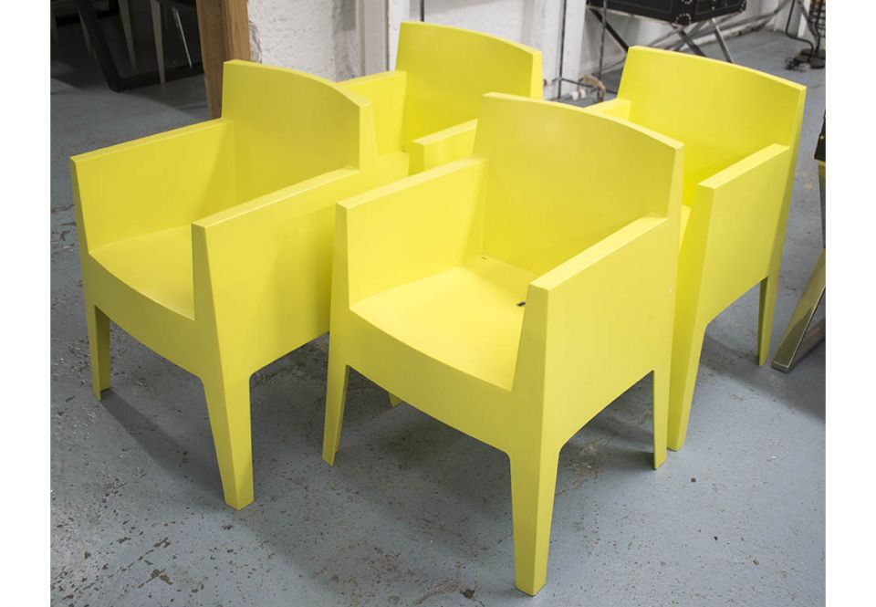 toy chairs a set of four by philippe starck 1999 for driade