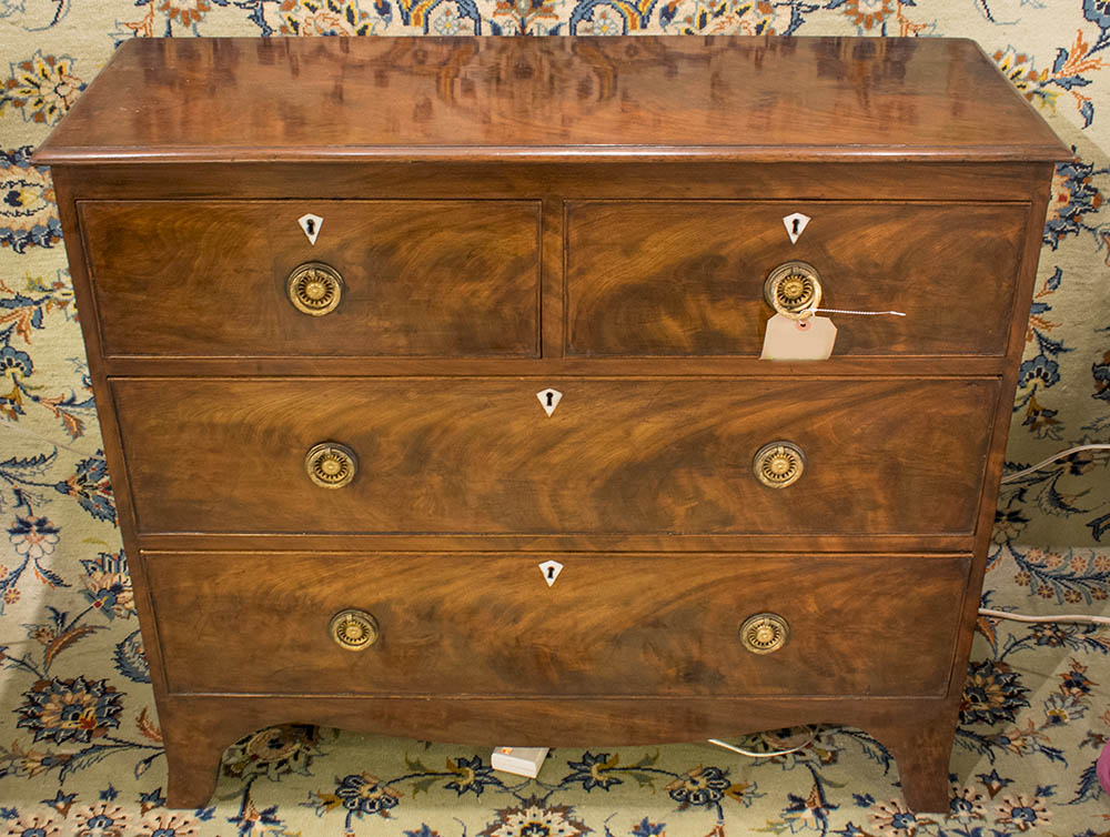 Hall chest regency flame mahogany of adapted shallow