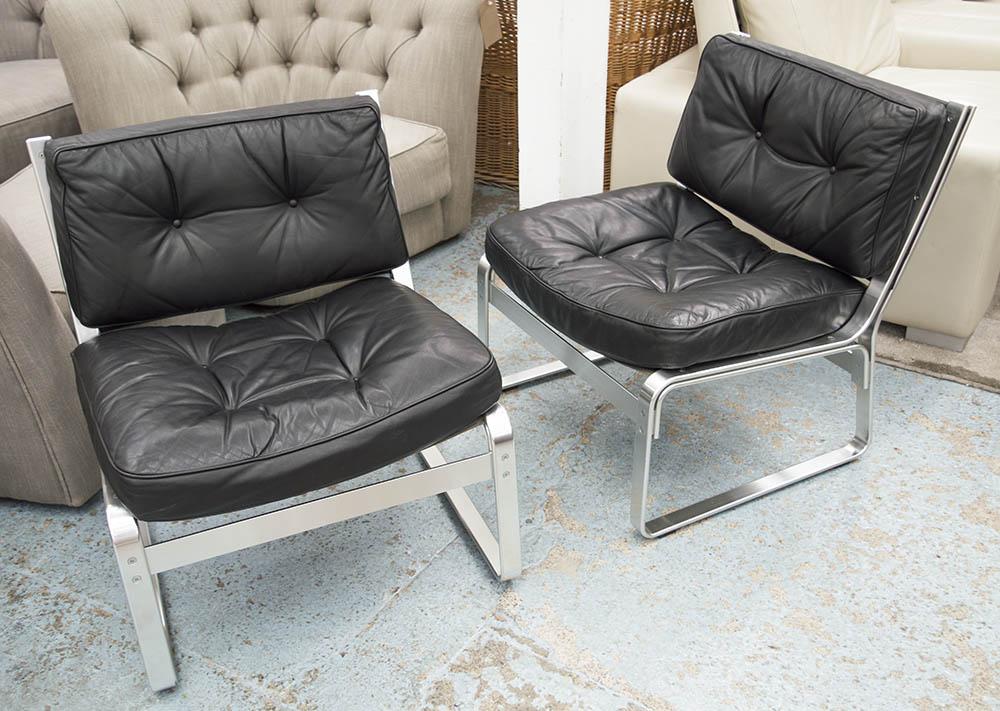 Mondo Chairs A Pair Swedish Karl Erik Ekselius Design Black