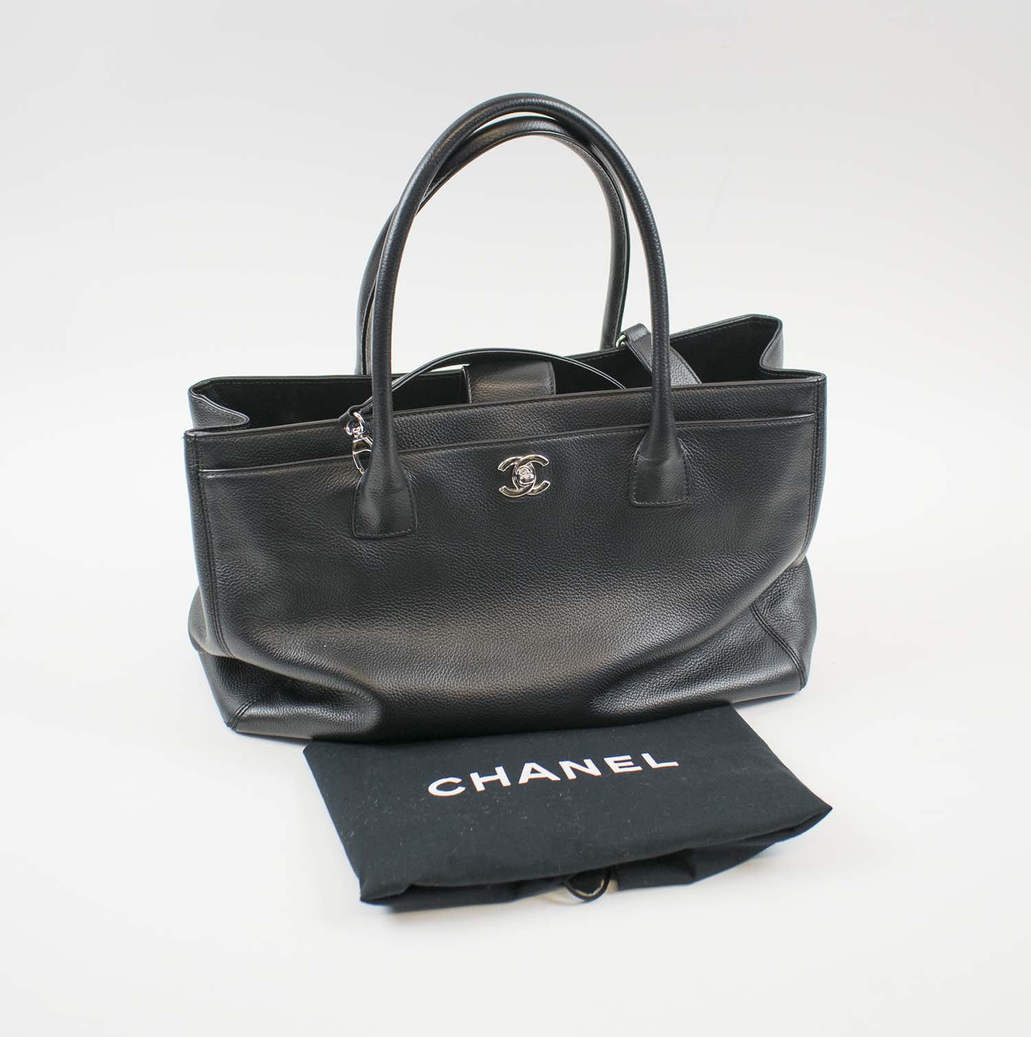bfe2b9661190 CHANEL EXECUTIVE TOTE BAG, black caviar leather with silver tone ...
