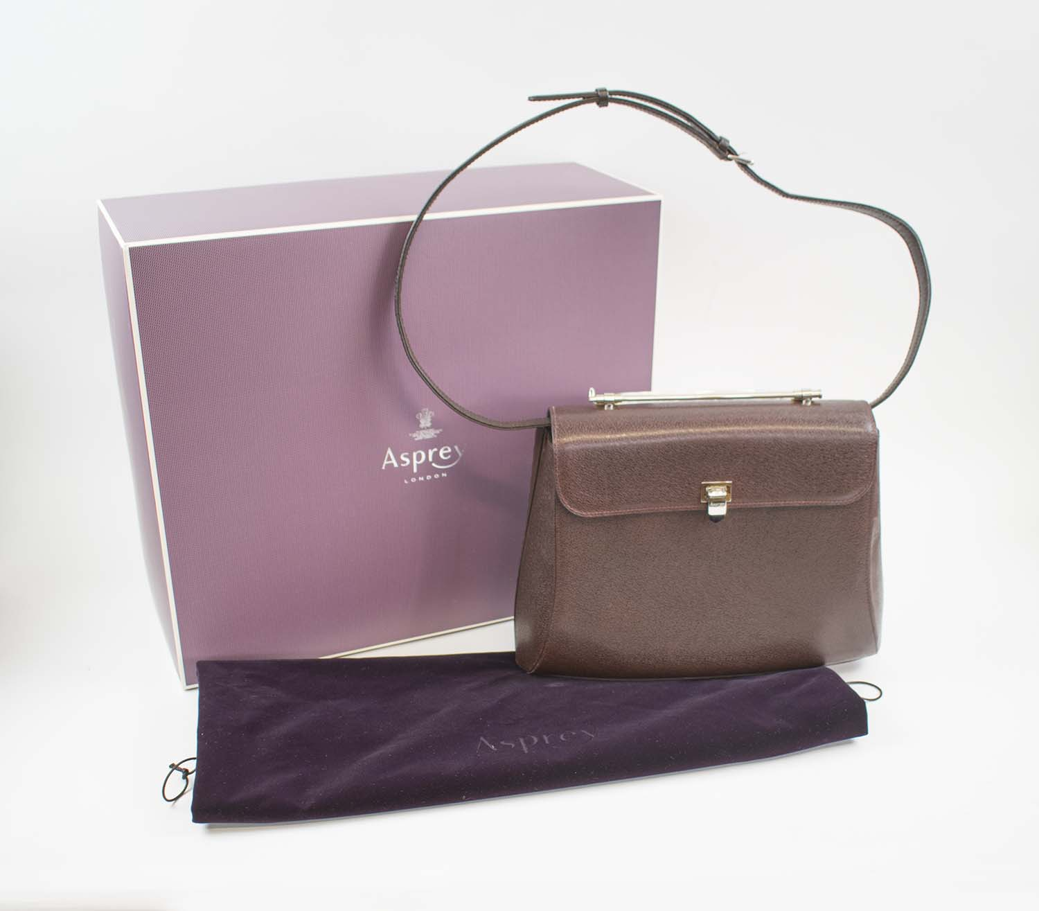799a834c9dc66b ASPREY OF LONDON HANDBAG, leather with single leather top handle and ...
