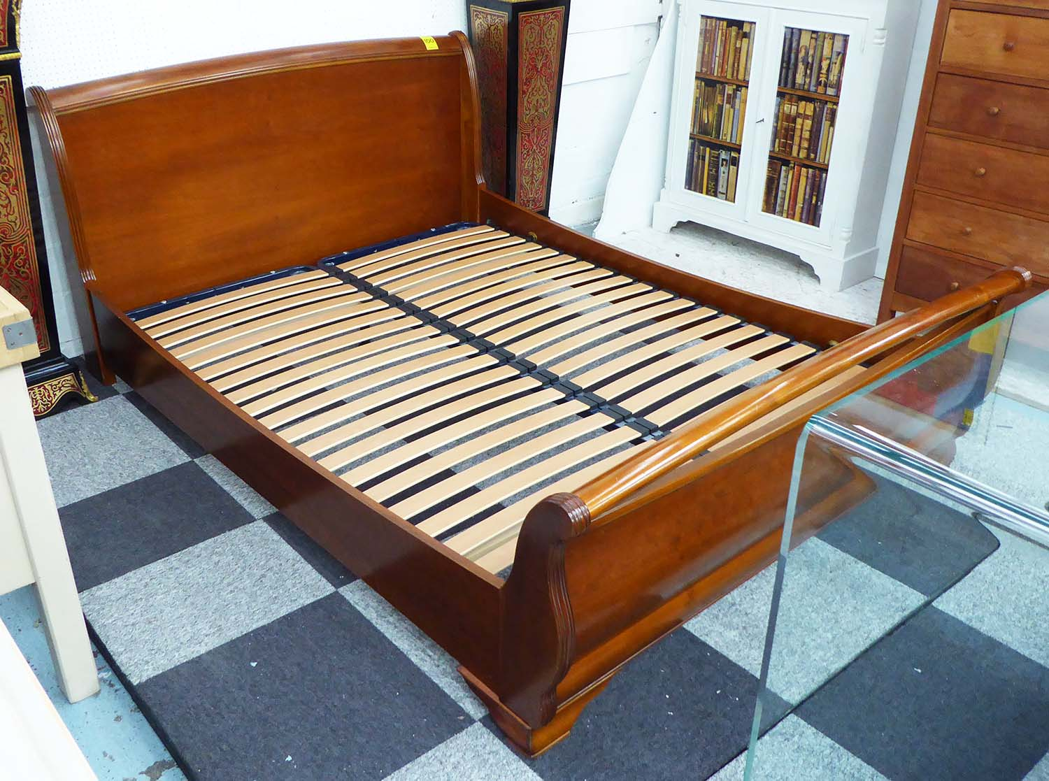 And So To Bed Wooden Sleigh Bed 214cm X 160cm
