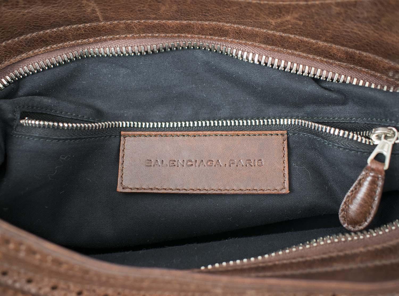 0618c2943f BALENCIAGA ARENA CITY BAG, burgundy/brown colour leather with top ...