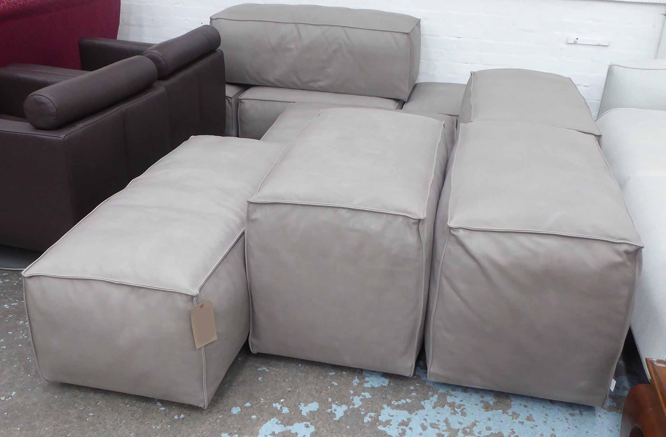Divani Low Cost.Living Divani Modular Sofa By Piero Lissoni Grey Upholstered Of
