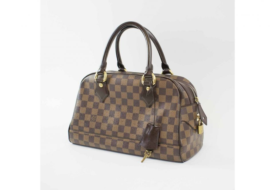 596a5ddb9b78 LOUIS VUITTON DAMIER EBENE CANVAS DUOMO BOWLING BAG, top zip closure ...