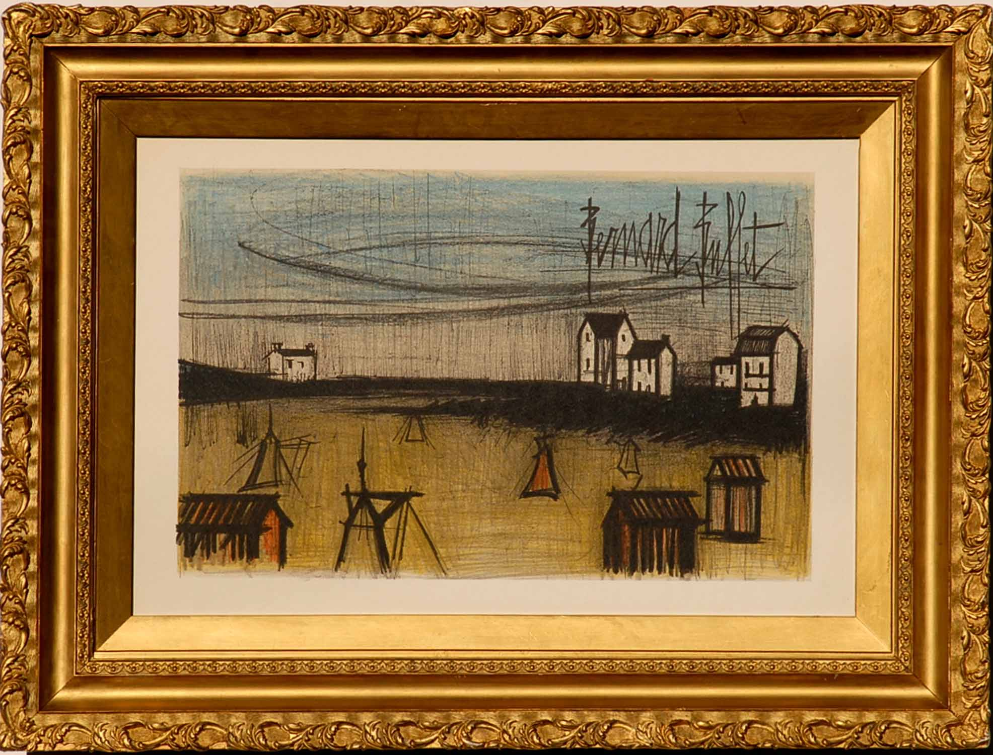 Astounding Bernard Buffet The Beach Lithograph Signed In The Plate Download Free Architecture Designs Boapuretrmadebymaigaardcom