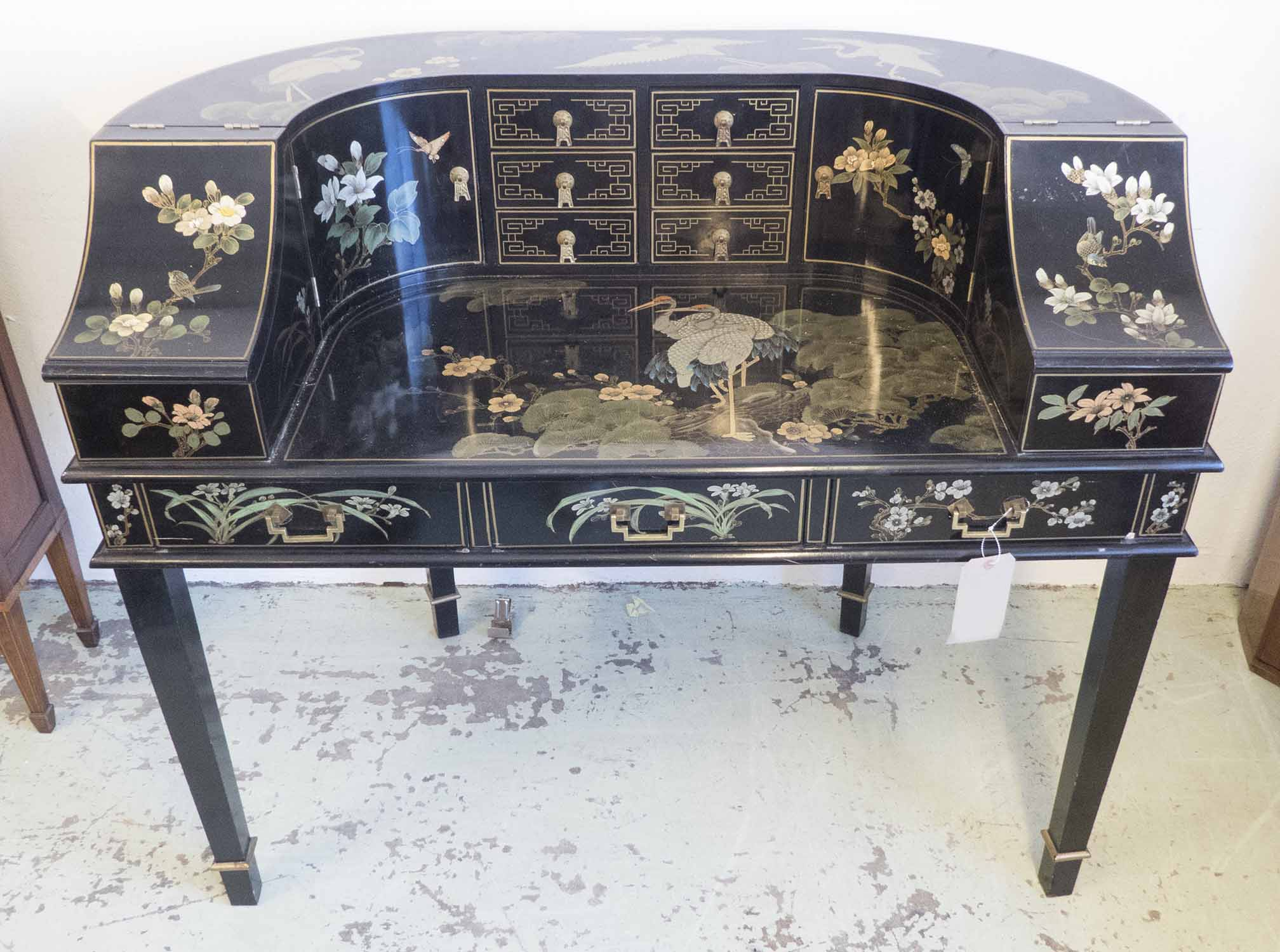Remarkable Carlton House Desk Late 20Th Century Chinoiserie Black Onthecornerstone Fun Painted Chair Ideas Images Onthecornerstoneorg