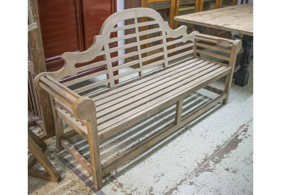 Lutyens Style Garden Bench Silver Weathered Teak And