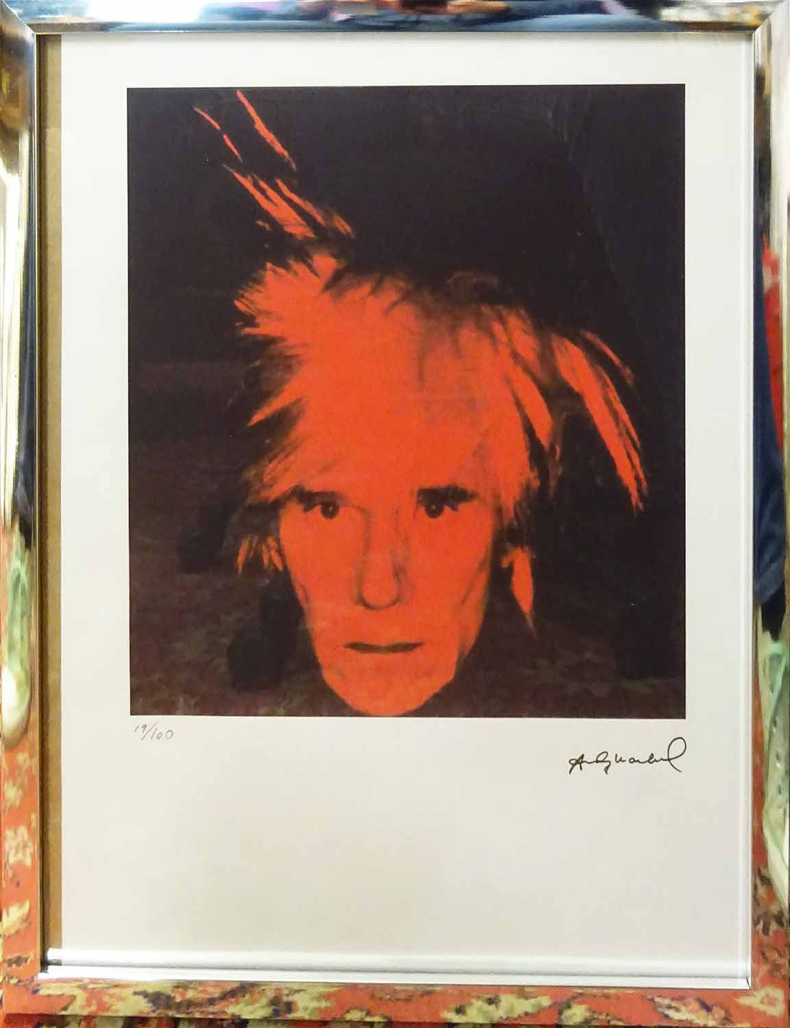 a4f05bf63ed22 ANDY WARHOL 'Self portrait', lithograph, on arches lucite marked ...