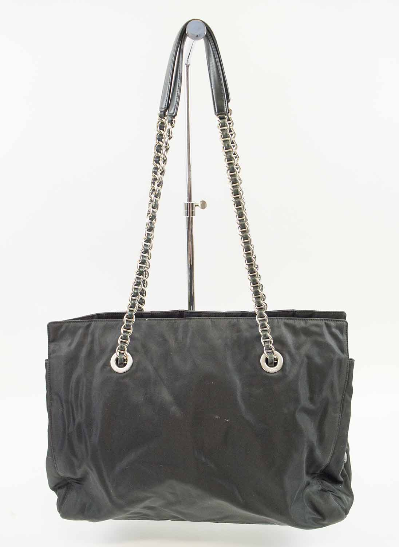 730c23279283 PRADA VINTAGE NYLON TOTE, black nylon with iconic monogram fabric ...