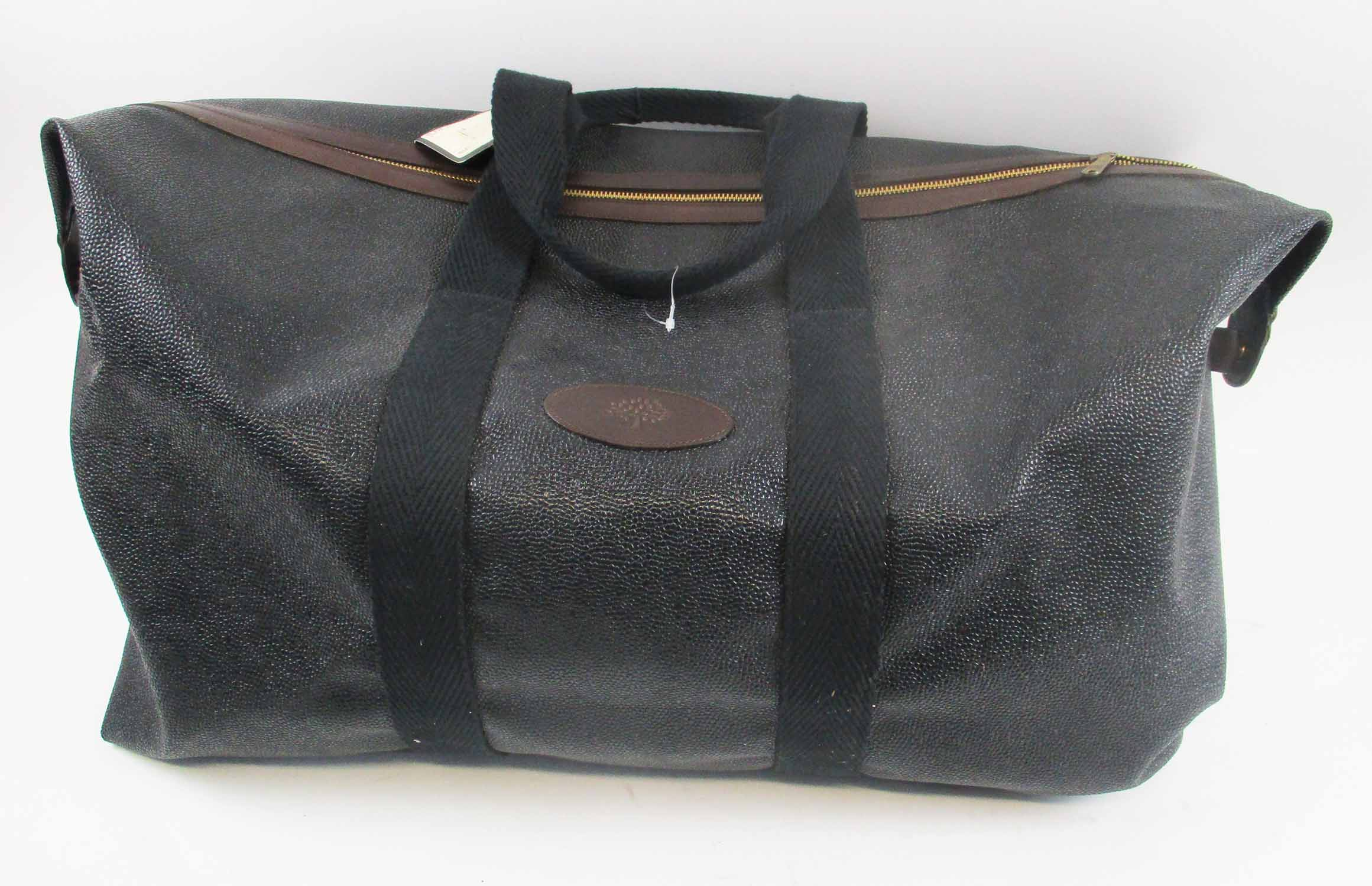 76f58c26f19 MULBERRY SCOTCHGRAIN CLIPPER BAG, 56cm L, with retailers tag.