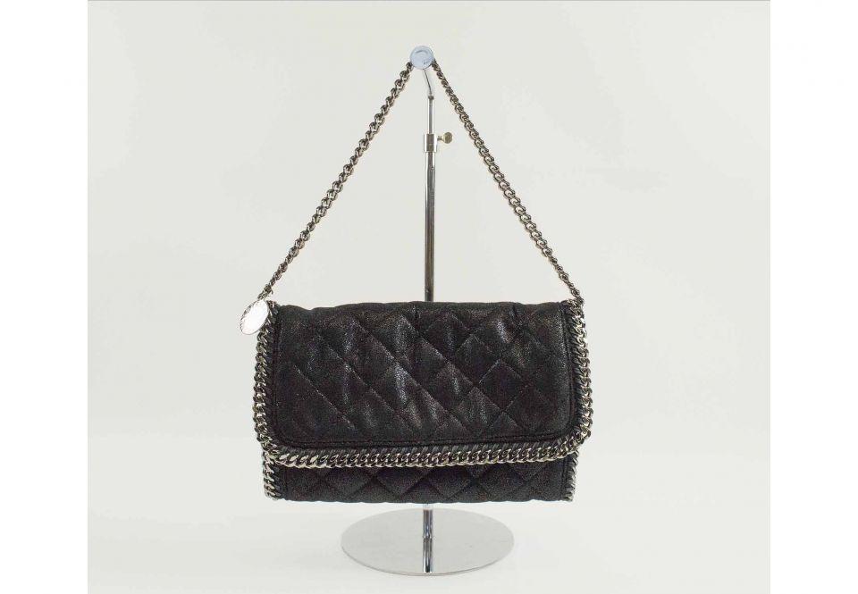 c08b8f427f5c42 STELLA MCCARTNEY FLABELLA SHOULDER/CLUTCH BAG, black quilted pattern ...