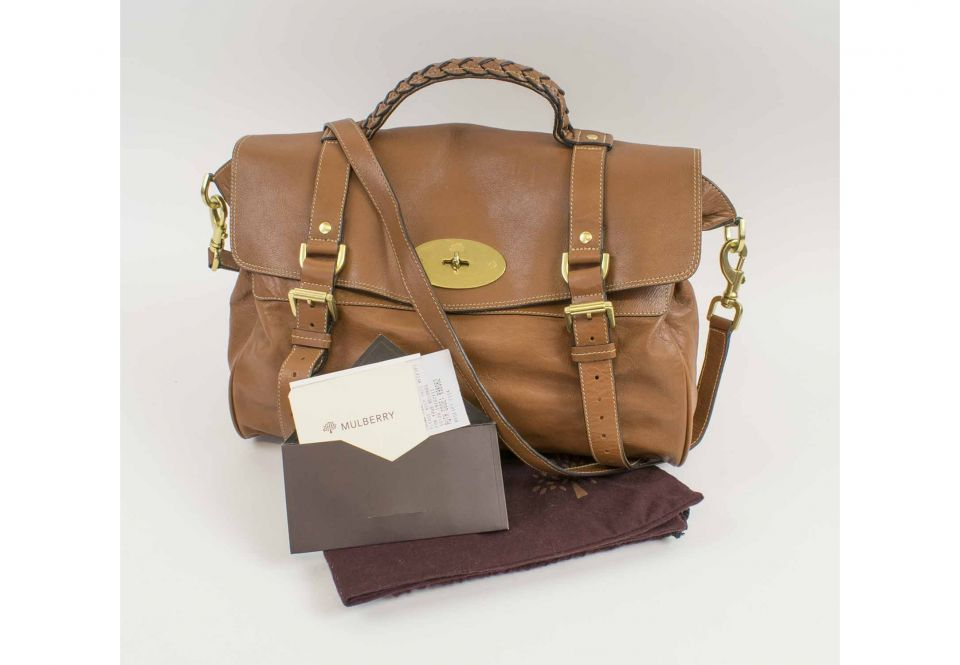 0f159a2052d MULBERRY ALEXA HANDBAG, with top handle, removable/adjustable ...