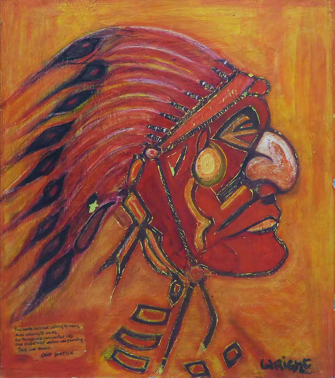 LEONARD J. WRIGHT 'Mozambique Woman' And 'Chief Seattle
